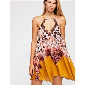 Free People Floral Haze Slip Dress